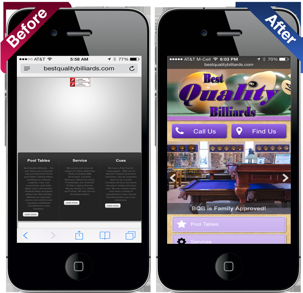 REXP Designs Smart phone websites
